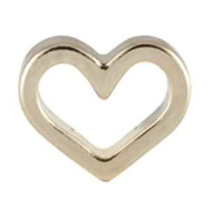 Gold Open Heart Charm