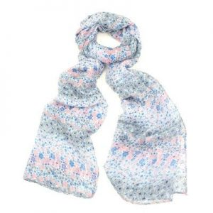 Blue Ditsy Floral Scarf
