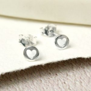 Mini Sterling Silver Open Heart Studs