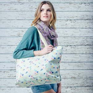 Beach Bag With Floral Print