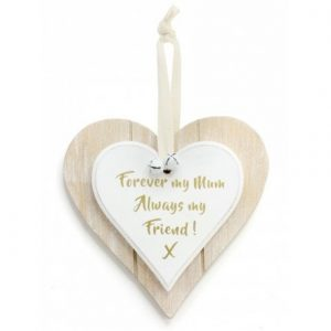 Forever My Mum Wooden Heart Plaque
