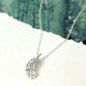 Sterling Silver Necklace With Little Feather