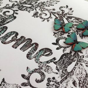 Creative & Arty Green Accents Home Print