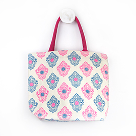 Blue And Pink Beach Bag