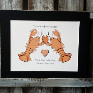 Lobster Couple Print