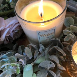 Wake BY LBLB Candle With Silver Or Rose Gold Lid
