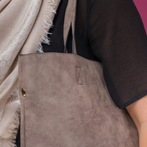 Grey Two In One Tote Bag