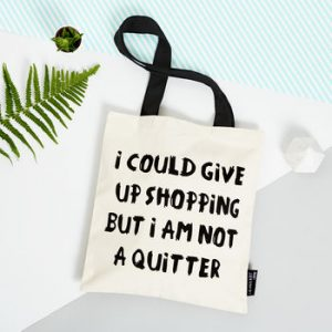 I Could Give Up Shopping Small Fabric Tote Bag
