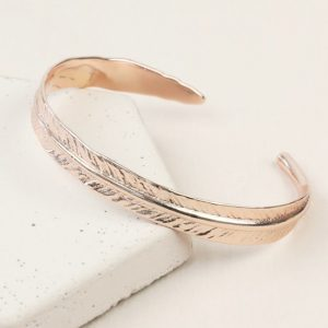 Rose Gold Feather Bangle