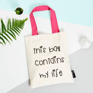 This Bag Contains My Life Tote Bag