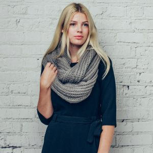 Grey Knitted Snood