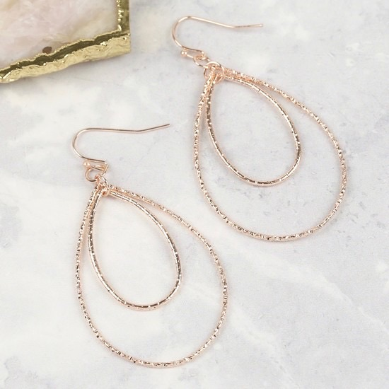 Rose Gold Drop Earrings