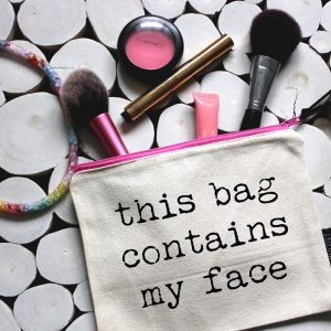 Slogan Makeup Bag