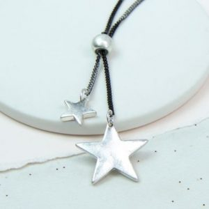 Adjustable Double Star Necklace