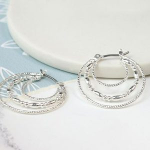 Decorative Hoop Earrings