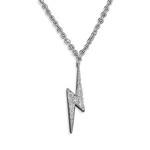 Silver Lightening Bolt Necklace