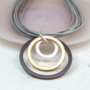 Mixed Hoop Necklace