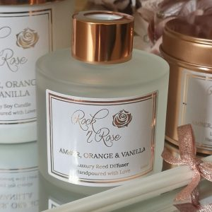 Amber Orange & Vanilla Large Luxury Candle