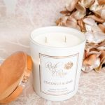 Cocunut and lime large luxury candle