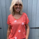 Star Tee In Red And White