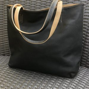 Black And Cream Reversible Two In One Bag
