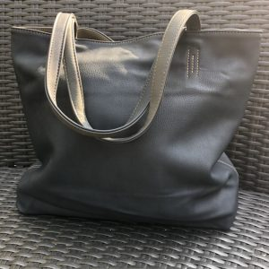 Grey And Navy Reversible Two In One Bag