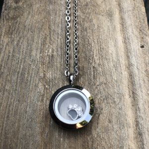 Black Paw Memory Locket