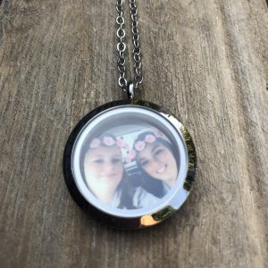 Medium Silver Memory Locket & Personalised Coin