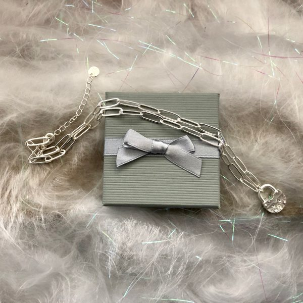 Silver Padlock Necklace 3
