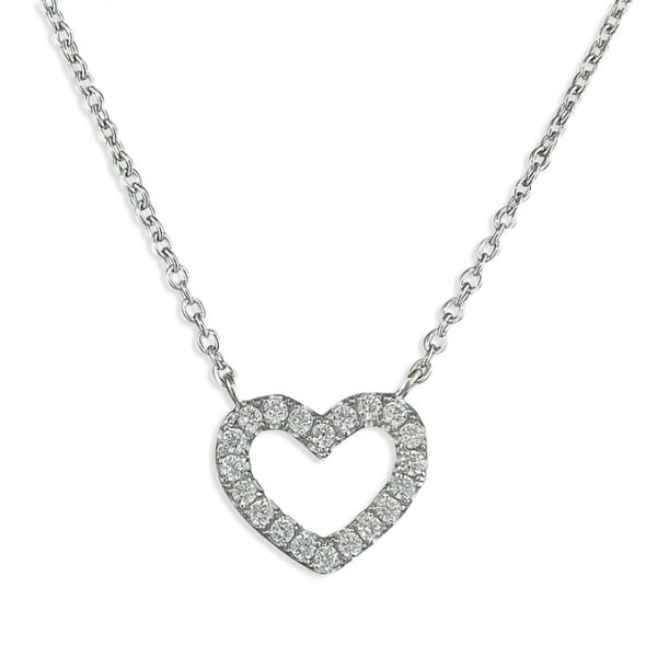 Crystal Heart Necklace Image 2