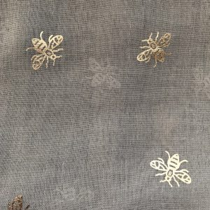 Grey Scarf With Bee Print